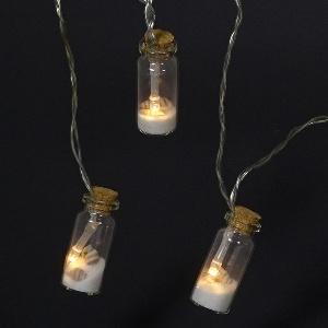 LED LICHTERKETTE FLASCHE