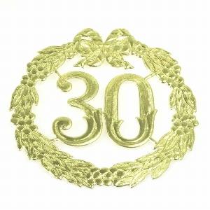 "PAPIER ZAHLENKRANZ ""30"" 24CM"