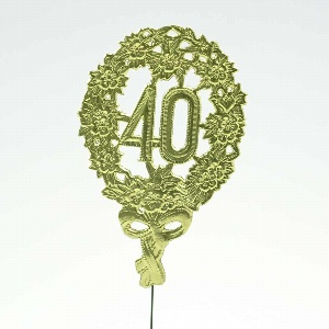 """PAPIER JUBILÄUMSZAHL """"40"""""""
