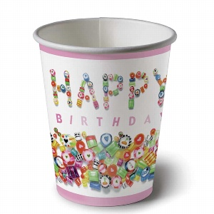 PAPIER BECHER BIRTHDAY H 8,5CM