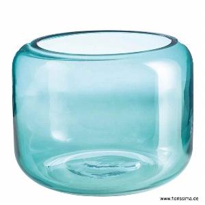 GLAS VASE FLACH RUND
