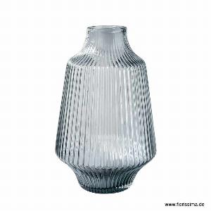 GLAS VASE 22X35CM GRAU
