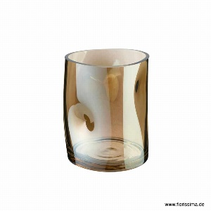 GLAS VASE H 15CM BRAUN