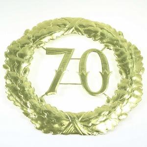 "PAPIER ZAHLENKRANZ ""70"" 40CM"