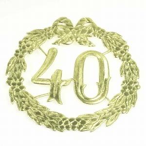 "ZAHLENKRANZ ""40"" 24CM"