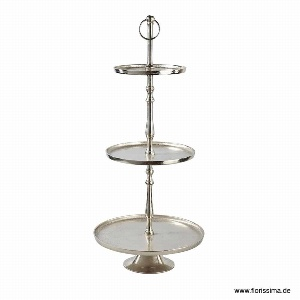 ALU ETAGERE OVAL H 96CM SILBER