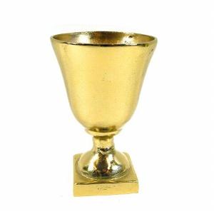 ALU POKAL AUF FUß 11X17CM GOLD