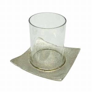 GLAS WINDLICHT A.METALL TELLER