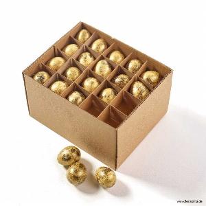 NATUR WACHTELEIER L 2,5CM GOLD