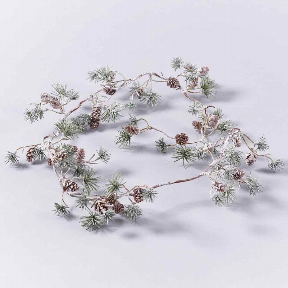 Tannenzapfen Girlande Zapfen natur 100 cm A21510-017 Weihnachten ca