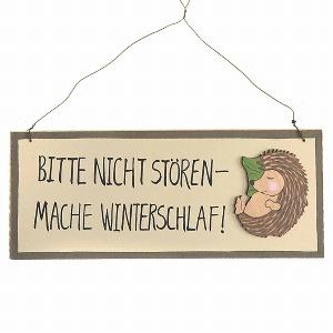 """HOLZ SCHILD WINTERSCHLAF"""""""