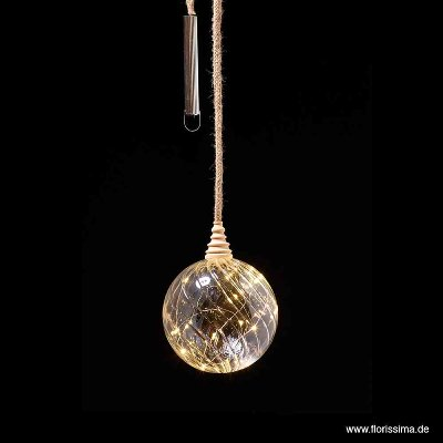 LED GLAS KUGEL/LAMPE MIT