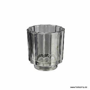 GLAS KERZENHALTER 7,8X8,5CM