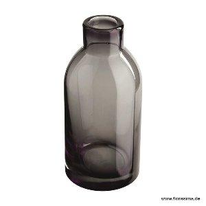 GLAS VASE 10X21CM GRAU