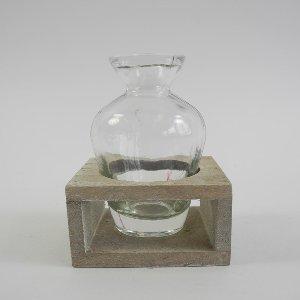 GLAS FLASCHE OHNE HOLZBOX