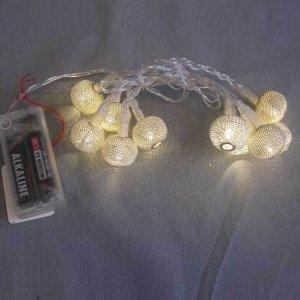 LED MINI LICHTERKETTE KUGEL 10