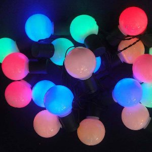 LED LICHTERKETTE GLASKUGELN