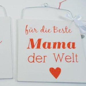 HOLZ SCHILD BESTE MAMA