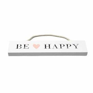 "HOLZ SCHILD ""BE HAPPY"" MIT"