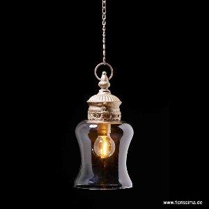 METALL LAMPE MIT GLÜHBIRNE MIT